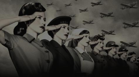Women salute
