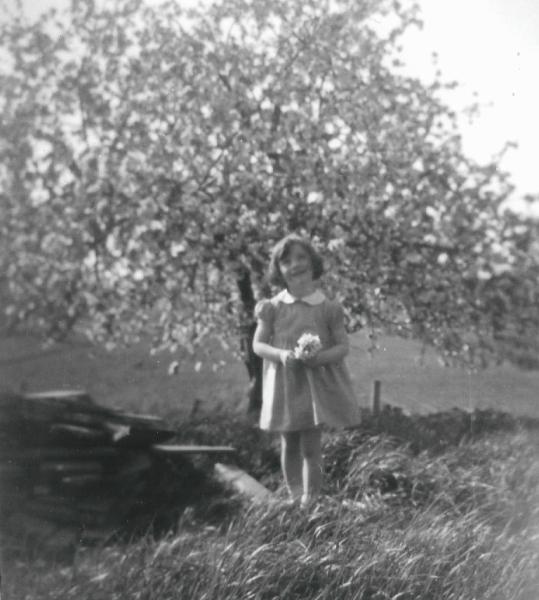 Arlene in the apple orchard