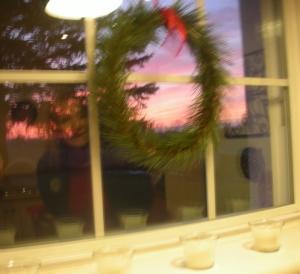 Sunset from kitchen window0001