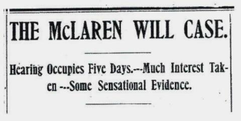 McLaren Will case