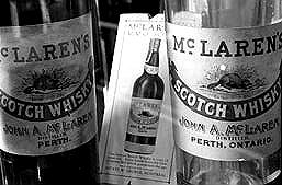 McLaren's whiskey bottles