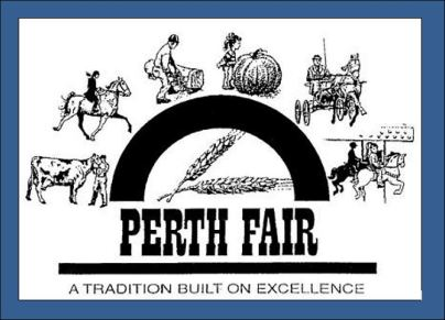 Perth Fair logo on blue