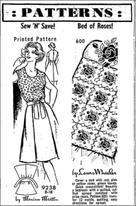 Quilt pattern in Perth Courier