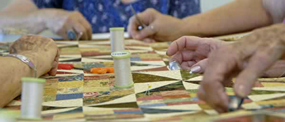 quilting at the frame