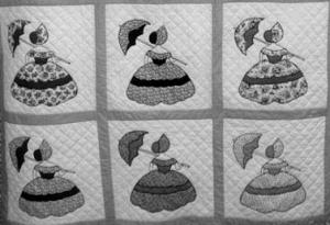 vintage parasol ladies quilt
