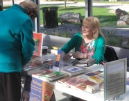 Book Fair farmer's market Arlene at the table # 30001