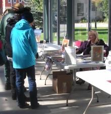 Book Fair farmer's market Arlene at the table #50001