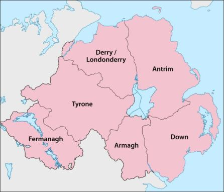 counties Down and Armagh