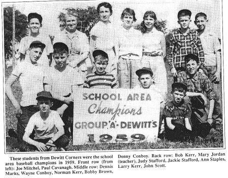 DeWitt's softball champs 1959