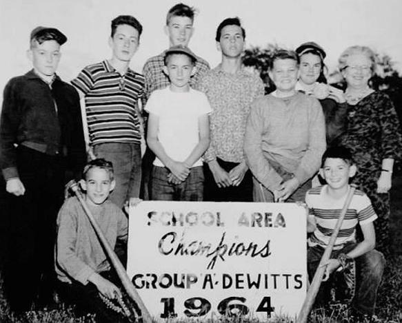 DeWitt's Softball Champs 1964