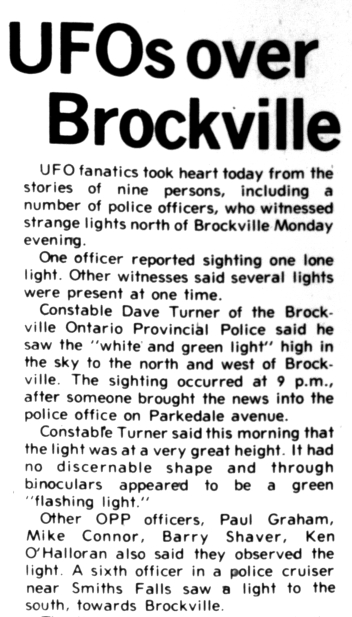 Brockville UFO