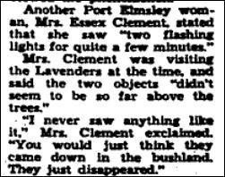 Mrs. Essex Clement UFO