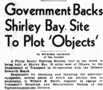 Shirley's Bay project 1953