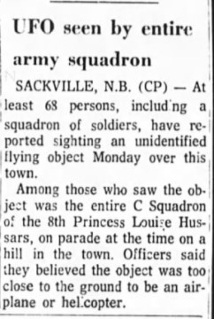 UFO seen by army squadron