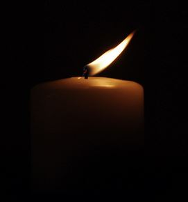 candle flickering