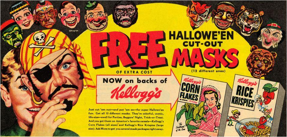 Kellogg's Hallowe'en masks