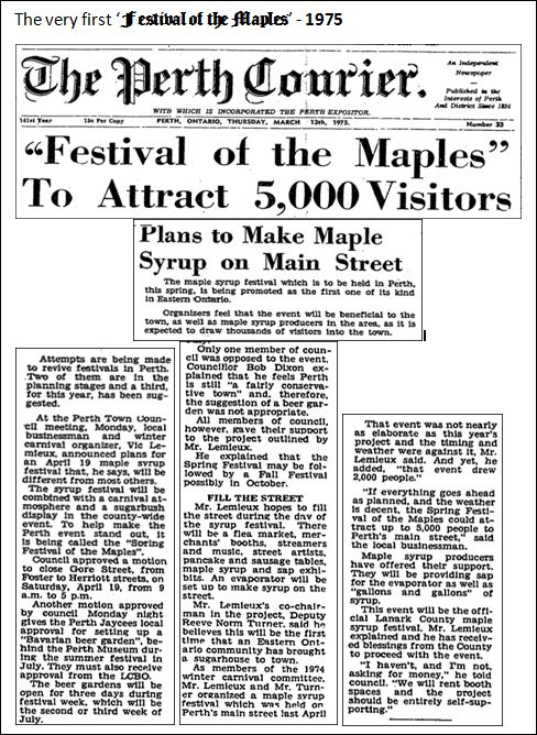 First festival of the Maples 1975