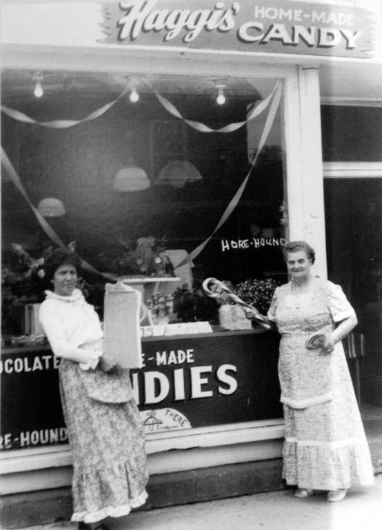 Haggis' candy store front