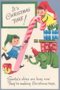 1960s christmas card