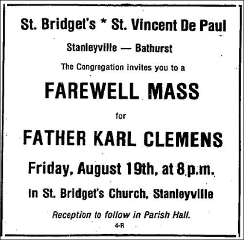 August 17 1983 Farewell Mass