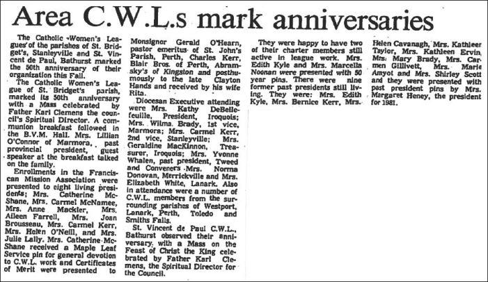 Dec 2 1981 CWL anniversary