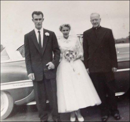 Father LeSage McNamee weddiing 1955
