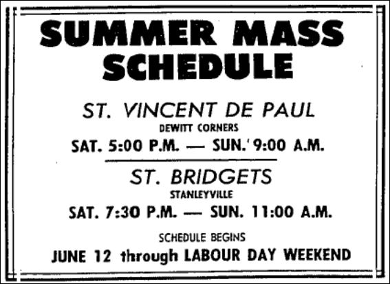 June 8, 1983 - Summer Schedule