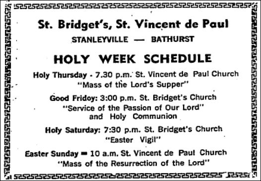 March 22 978 p 14 display ad Holy Week