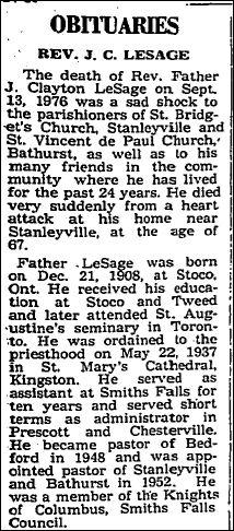 Nov 4 1976 p 14 Fr. LeSage part 1