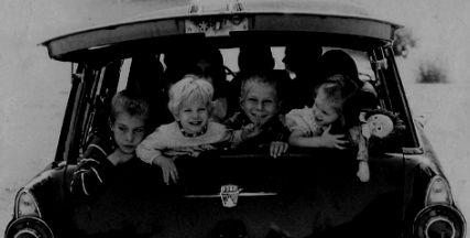 kids driving away