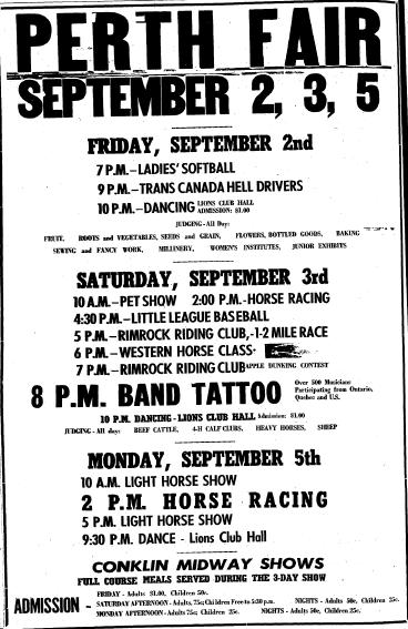 Perth Fair poster 1966