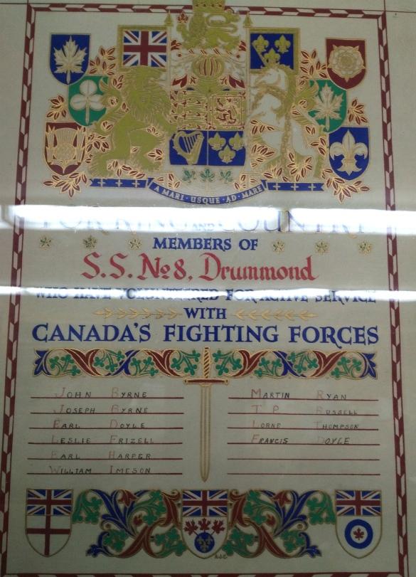 SS8 War memorial