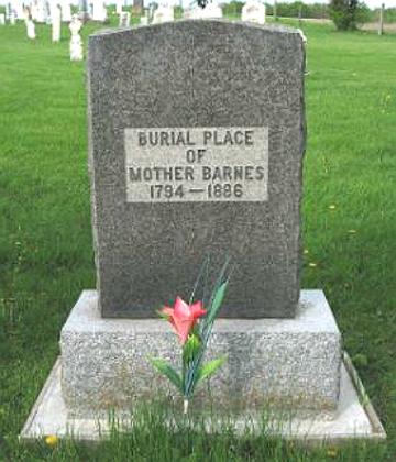 Jane's gravestone