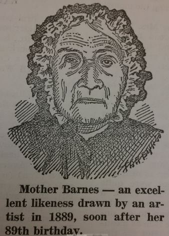 Mother Barnes drawing 1889