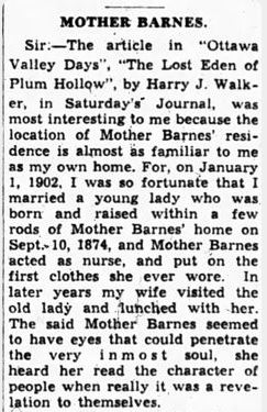 news about Mother Barnes