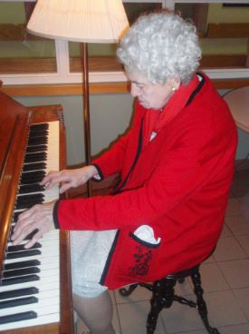 Sophia playing the piano