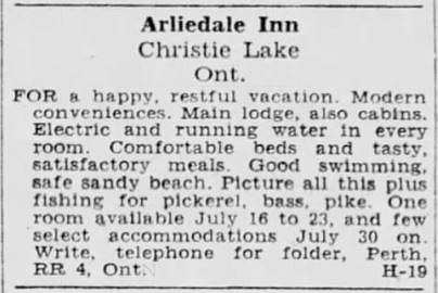 Arliedale July 20 1949 Ottawa Citizen