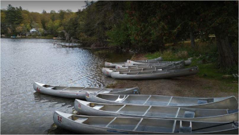 Canoes at Camp Opemikon