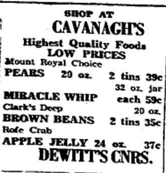 Cavanagh's ad