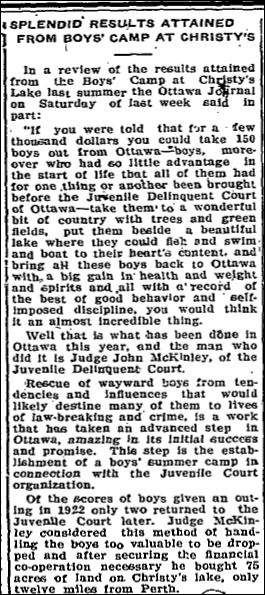Christie Lake Boy's camp Nov 16 1923 part 1 page 2
