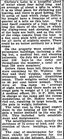 Christie Lake Boy's camp Nov 16 1923 part 2 page 2