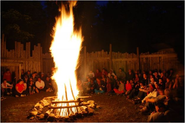Christie Lake camp bonfire
