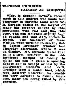 Christie Lake fishing 3
