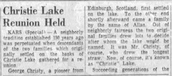 Christie Lake reunion July 4 1955 p