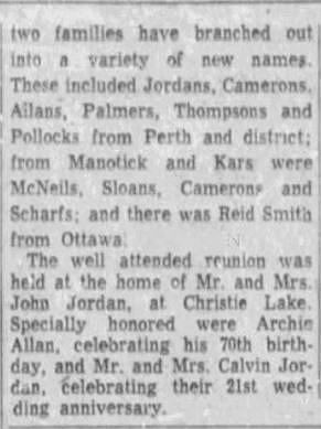Christie Lake reunion July 4 1955 part 2