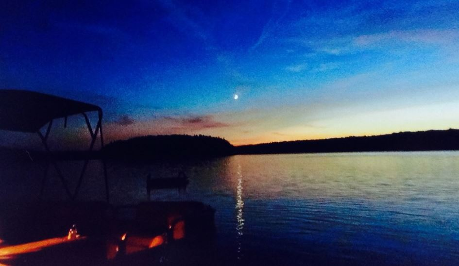Christie Lake sun setting Kathy Irvine