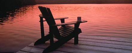 empty chair at athe lake