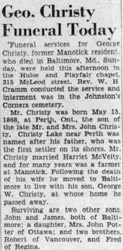George Christy Apr. 27 1949 p 2 Ott.Cit
