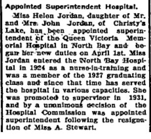 Helen Jordan appointed superintendent