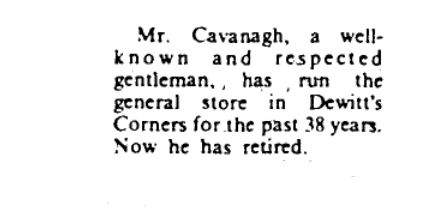 Jim Cavanagh retired April 3 1985 p 18